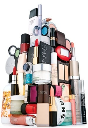 too many beauty products