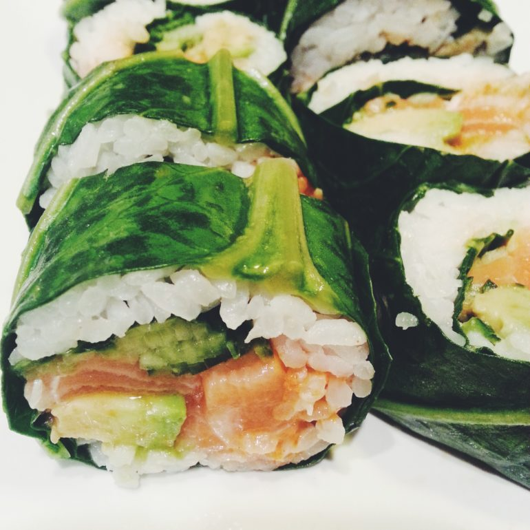collard green sushi rolls copy