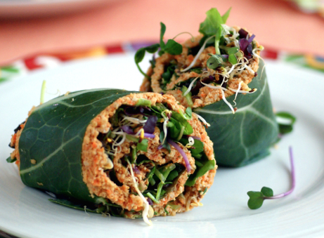 macadamia nut sundried tomato collard wrap