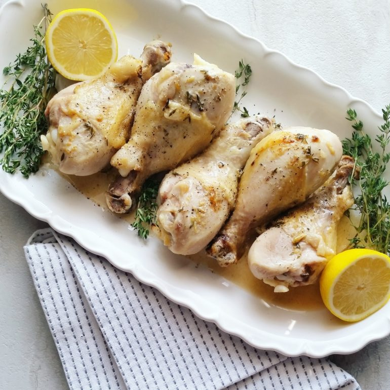 Roasted lemon chicken drumsticks