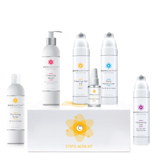 Cystic Acne kit to clear cystic acne