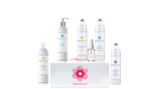 POREspecitve acne kit formulated to treat dark spot acne types