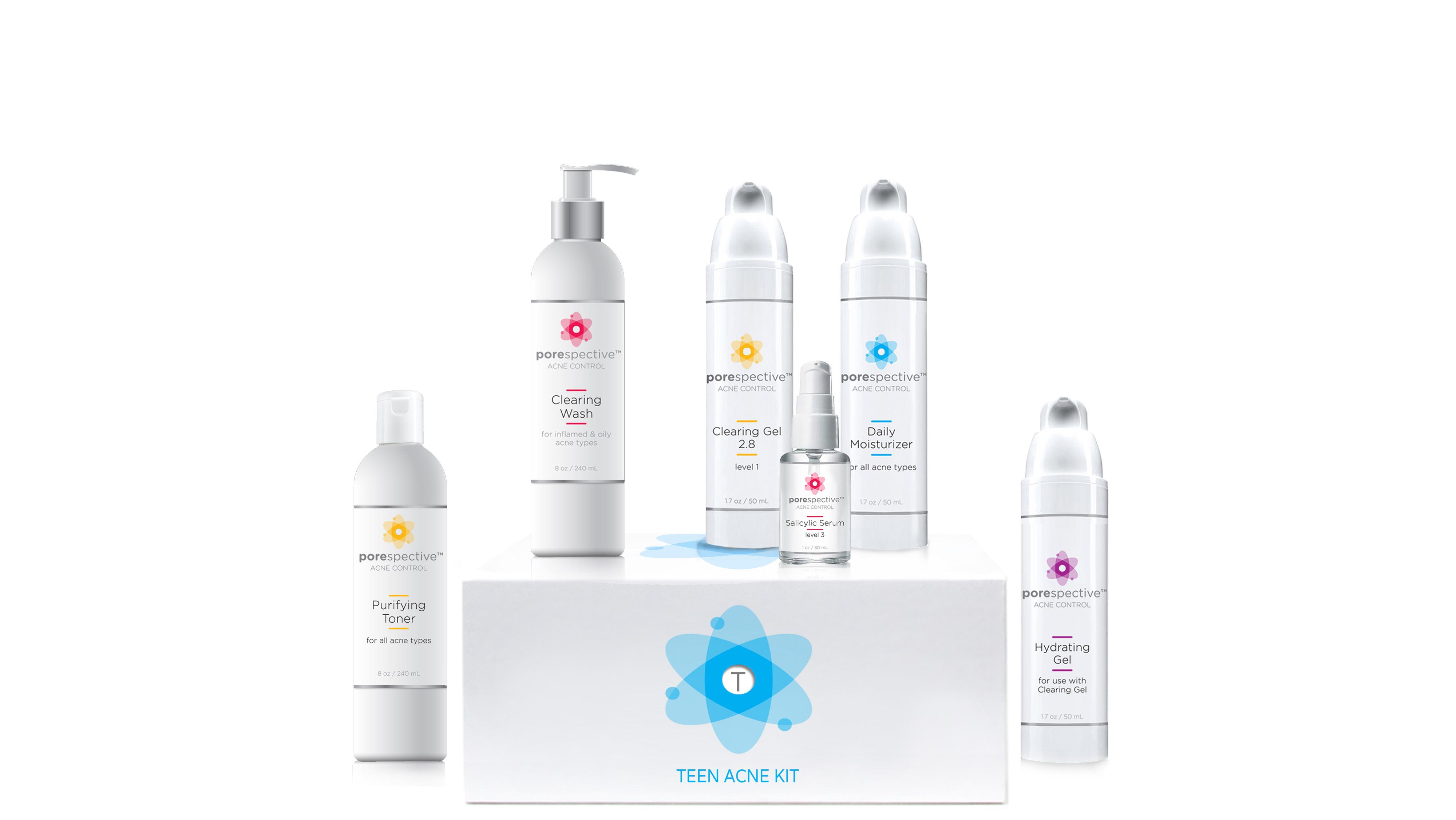 POREspective acne kit formulated for teen acne